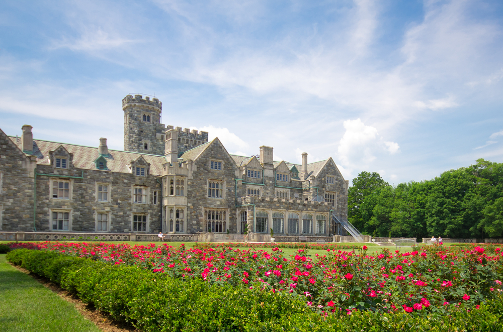 historic long island gold coast mansion, the hempstead house at sands point preserve, ny